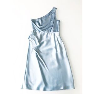 J.Crew One-Shoulder Dress in Cinderella Blue Sz 0